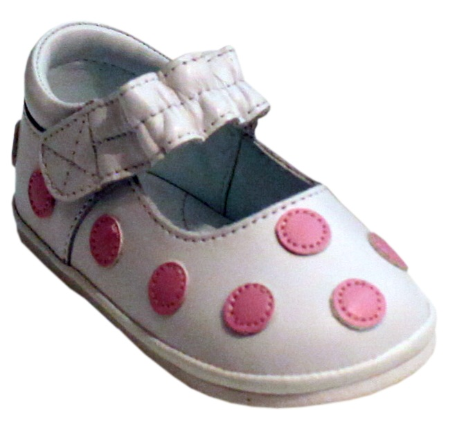 L`Amour Little Girls White Leather Flexible Mary Jane Shoes 5-7 Toddler